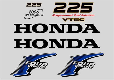Honda Four Stroke Aufkleber by Honda Outboard Four Stroke 225 Hp Decals Stickers Set Kit
