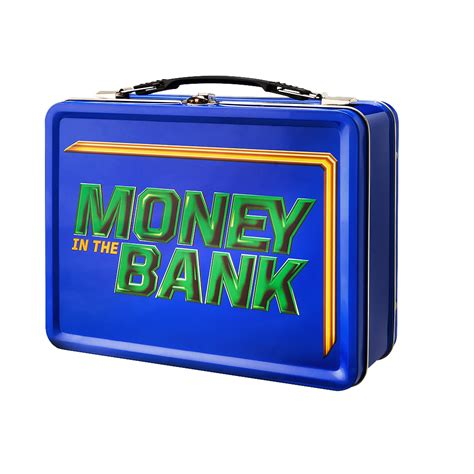 Lunch Box Blue money in the bank blue briefcase lunch box us
