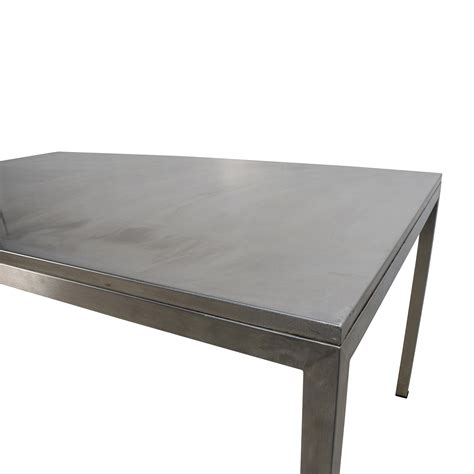 56 Off Room And Board Room Board Portica Stainless Stainless Steel Dining Room Table