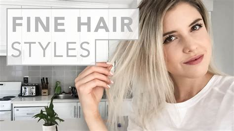 hair hacks  fine  thin hair youtube
