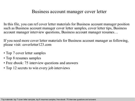 Business Letter Slideshare Business Account Manager Cover Letter