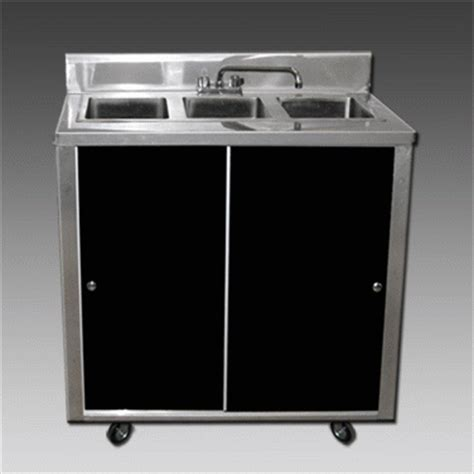 portable 3 compartment sink 3 compartment portable sink