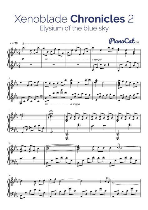 theme music nypd blue xenoblade chronicles 2 piano sheet music piano sheet