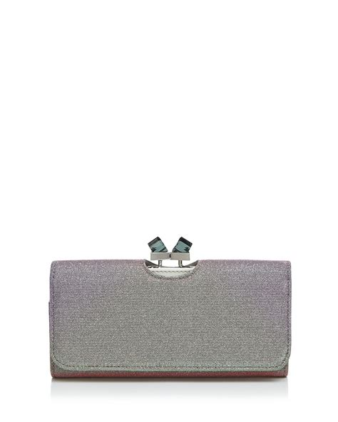 Marc Snapshot Noir Glitter Stripes Bag Mj9461 lyst ted baker wallet fabric metallic matinee in green