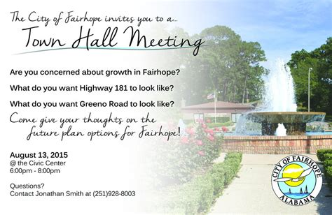 Four Maps Four Futures Of Fairhope Your Choice At Town Hall Meeting Aug 13 Al Com Town Invite Template