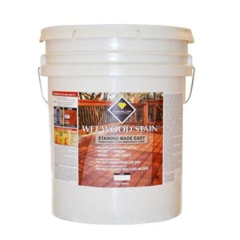 wood stain 5 gal redwood semi transparent exterior