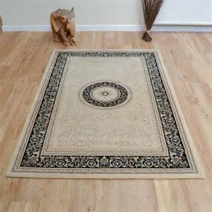 8 X8 Rug Noble Art Rugs 6572 192 In Cream Black Free Uk Delivery