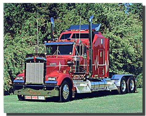 big kenworth red kenworth big rig richard stockton truck poster rigs