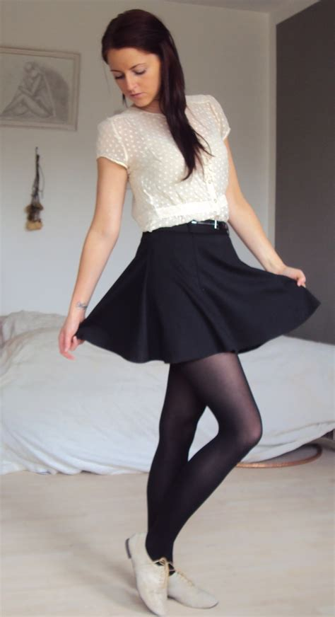 Blouse Rami Black 21 best skirt with oxford tights images on