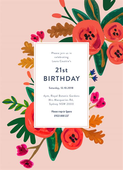 happy birthday invitation design floral birthday dp birthday invitations