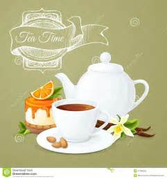 tea party poster stock vector image 47460363