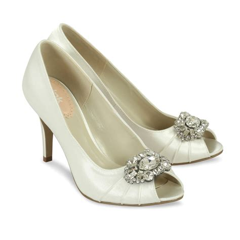 Satin Bridal Shoes by Ivory Satin Wedding Shoes Tender Paradox Pink