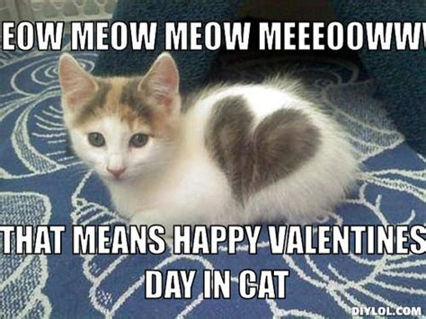 Happy Valentines Meme - image valentine kitteh meme generator meow meow meow
