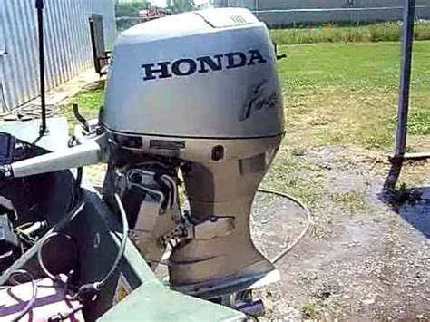 legend boats problems 2001 honda 40 four stroke boat motor review youtube