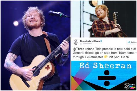 ed sheeran fan presale irish ed sheeran fans frantic as 3 presale tickets for