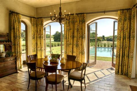 Blinds For Arched Top Windows - pretty french country curtains fashion other metro mediterranean dining room remodeling ideas