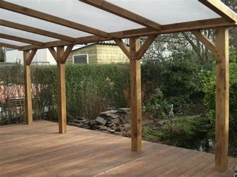 veranda wood verandah in wood with polycarbonate roof glazing