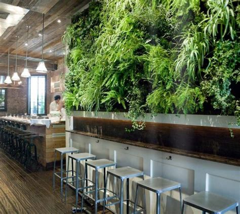 Vertical Garden Restaurant Repurposed Materials Give Restaurant Some Flair