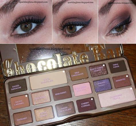 eyeshadow tutorial chocolate bar tutorial too faced chocolate bar palette stila taffy