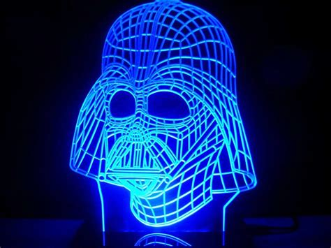 star wars led light stunning star wars darth vader face mask led desk light