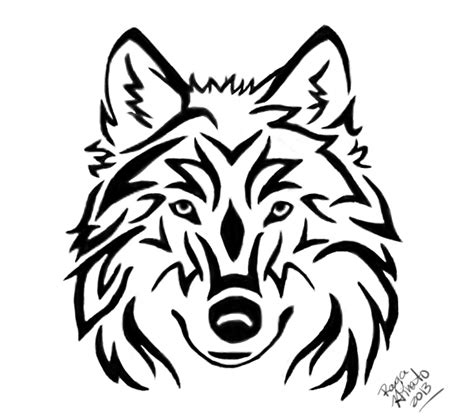 how to draw a wolf tattoo wolf tattoo step by step tribal wolf head tattoo by rayahinato on deviantart