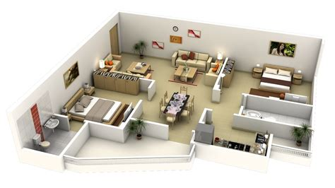 50 3d Floor Plans Lay Out Designs For 2 Bedroom House Or Home Design 3d Two Floors