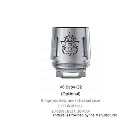 Authentic Smok V8 Baby T8 0 15 Ohm Untuk Tfv8 Baby 5pcs authentic smoktech smok tfv8 baby tank 5 pcs 0 6 ohm v8 baby q2