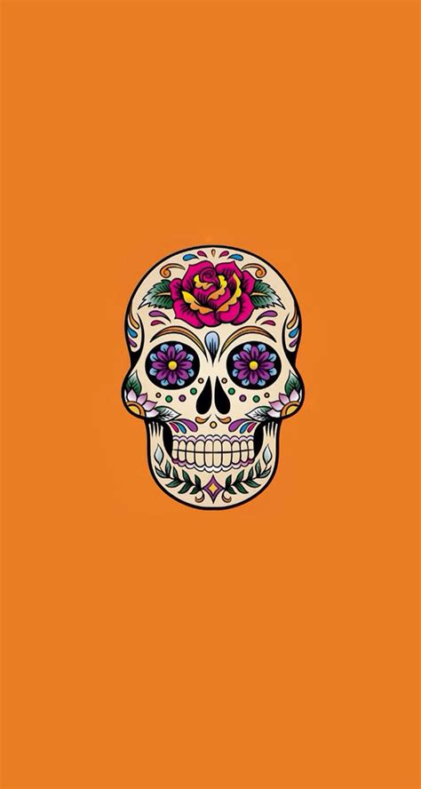 wallpaper iphone skull d 237 a de muertos iphone wallpapers pinterest day of