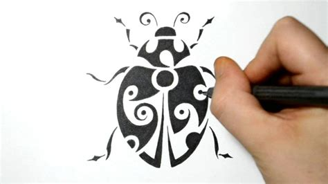 drawing a bug tribal design style