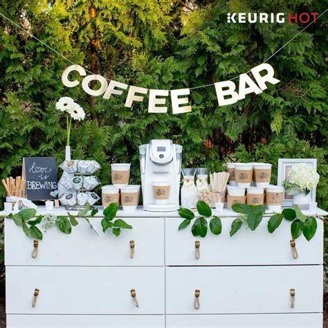 Coffee bar for wedding  awesome idea   Weddings   Brunch