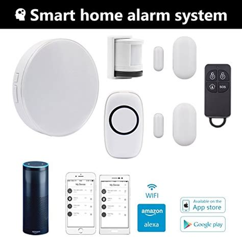 wireless smart home security alarm system with siren wifi