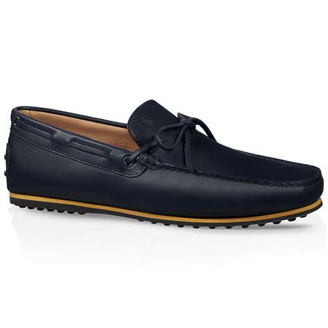 tods loafer tod s leather city gommino loafers in blue for lyst