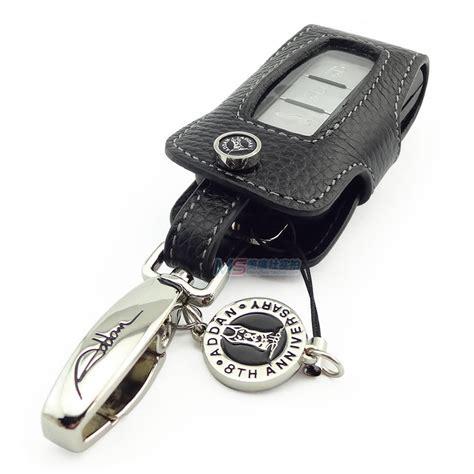 peugeot 4008 accessories black color genuine leather car key case for peugeot 4008