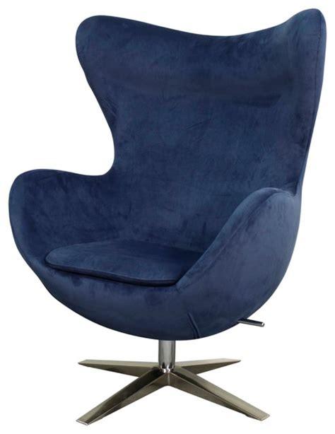 blue swivel chair max fabric swivel rocker chair w chrome legs