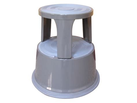Metal Step Stool by Metal Step Stool Light Grey Q Connect