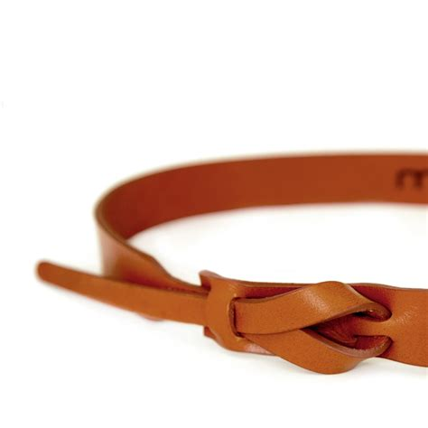 no buckle leather belt camel leather goods