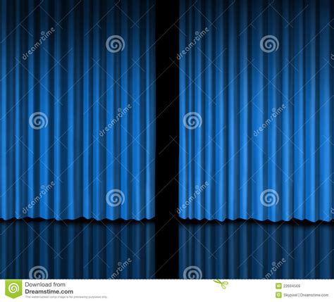 Behind The Blue Curtain Royalty Free Stock Images Image