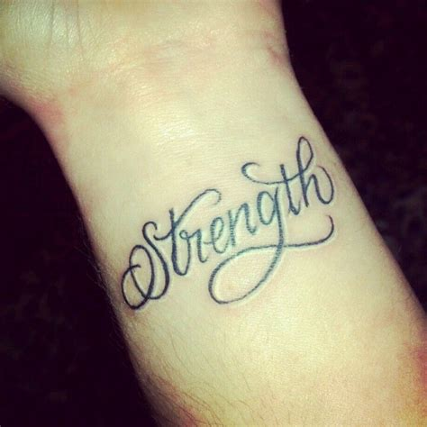 oblique tattoos strength like the script but want it placed on my