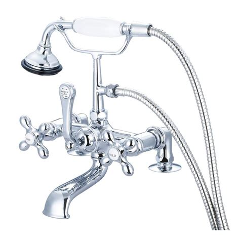 3 foot bathtub water creation 3 handle vintage claw foot tub faucet with hand shower and porcelain