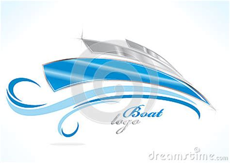 blue wave boats logo boat logo royalty free stock photos image 22552248
