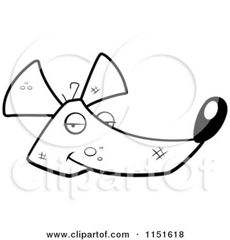 rat face coloring page rat clipart black images