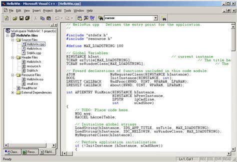 Visual C visual c file extensions