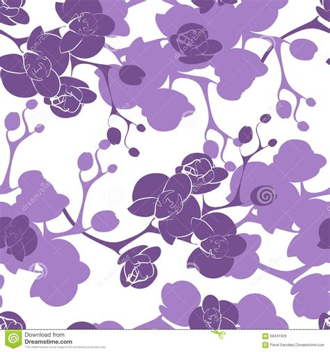 orchid pattern vector flower orchid decoration design seamless texture pattern