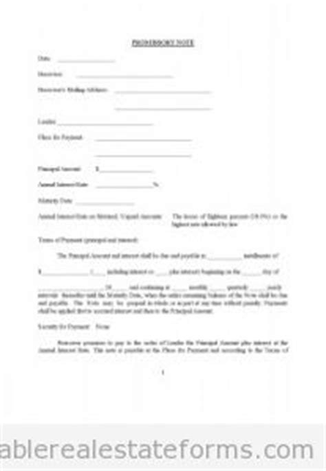 printable promissory note assorted legal forms sample