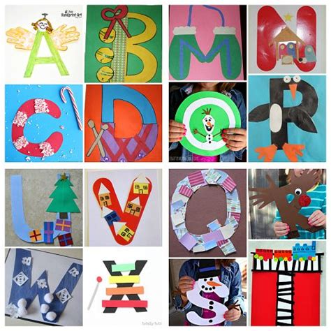 winter christmas alphabet crafts for kids crafts letter