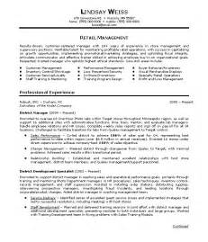Retail Resume Objectives by Retail Manager Resume Objective Lindsay Weiss Writing Resume Sle Writing Resume Sle