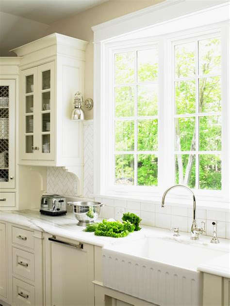 Kitchen Backsplash For White Cabinets by Kitchen Window Ideas Pictures Ideas Amp Tips From Hgtv Hgtv