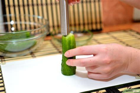 cetrioli come cucinarli come rimuovere i semi da un cetriolo 14 passaggi