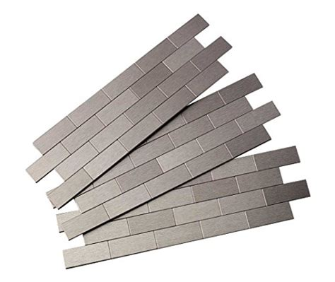 aspect peel and stick backsplash aspect a95 50 peel and stick backsplash subway metal tile