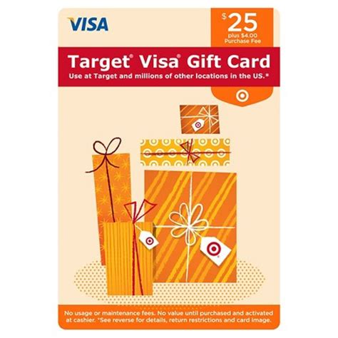 Fee For Visa Gift Card - visa gift card 25 4 fee target
